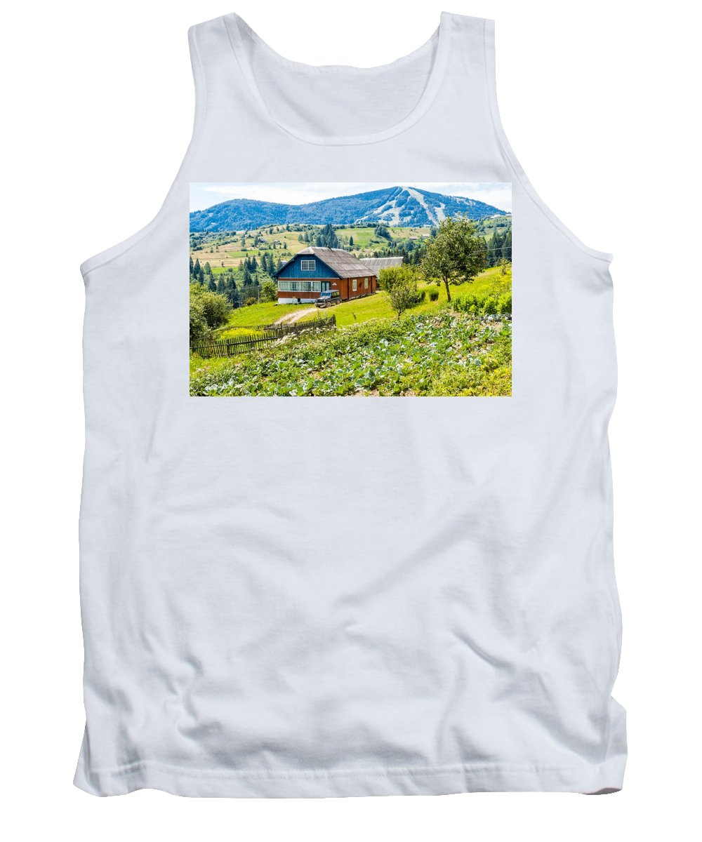 Ukraine Tank Top featuring the photograph The Big Dacha by Alain De Maximy