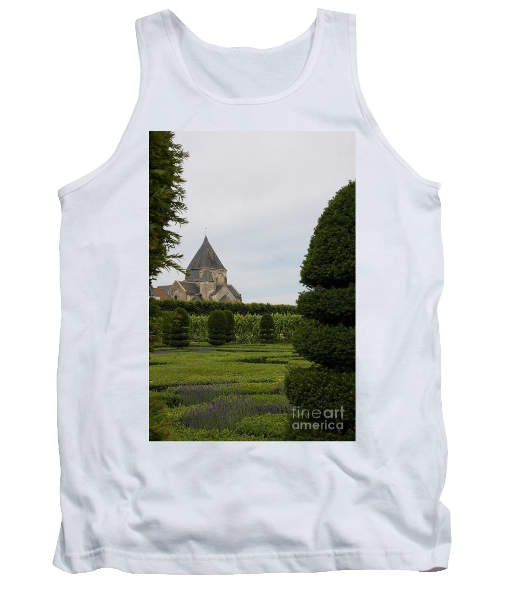 Boxwood Tank Top featuring the photograph The Boxwood Garden - Villandry by Christiane Schulze Art And Photography