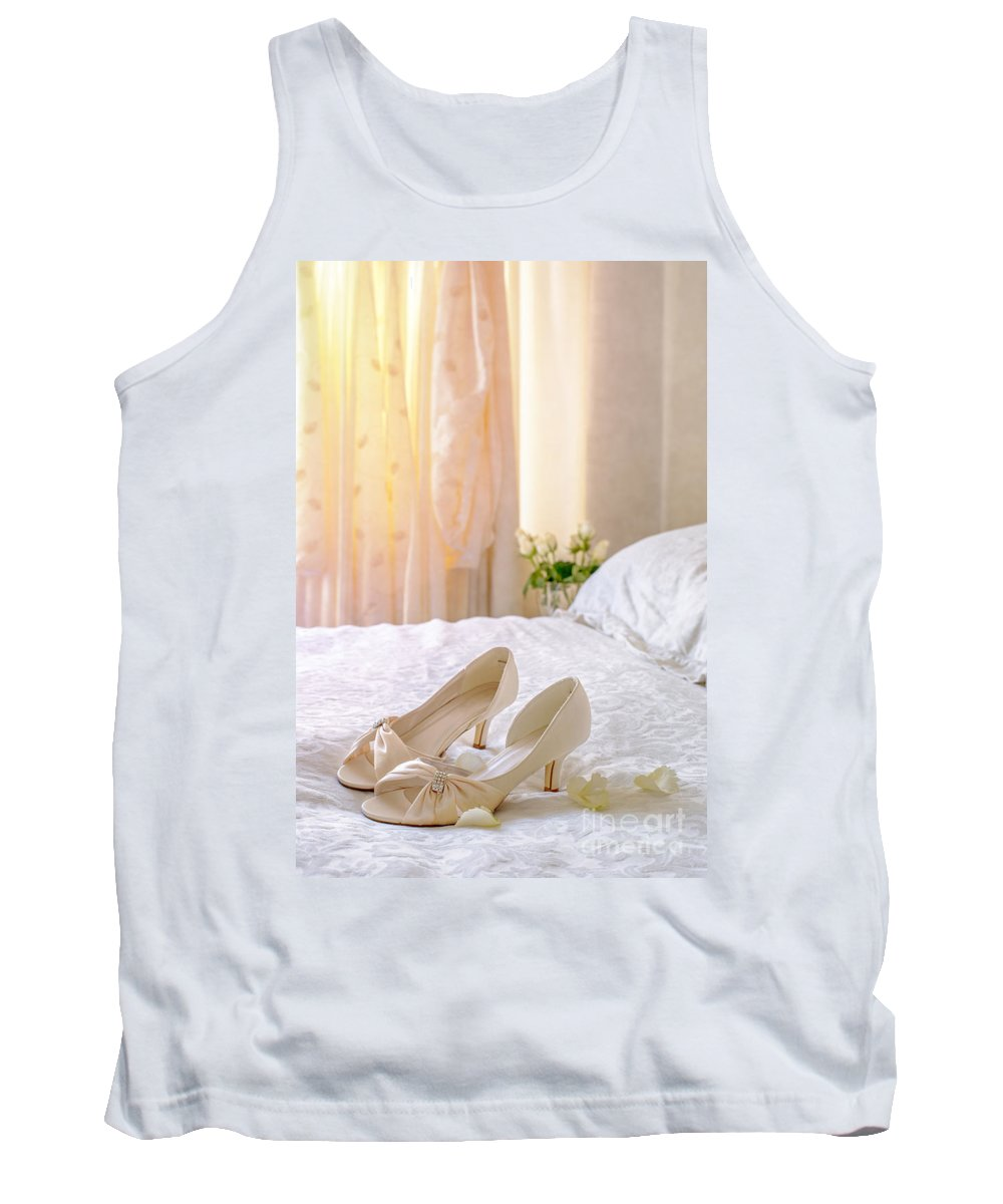 Shoes Tank Top featuring the photograph The Brides Sandals by Amanda Elwell