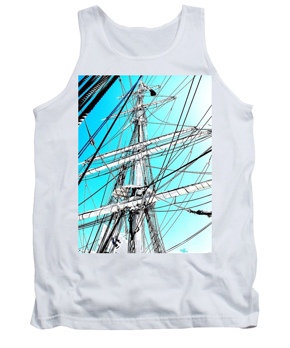 Ships Tank Top featuring the painting The Charles W Morgan by Cliff Wilson
