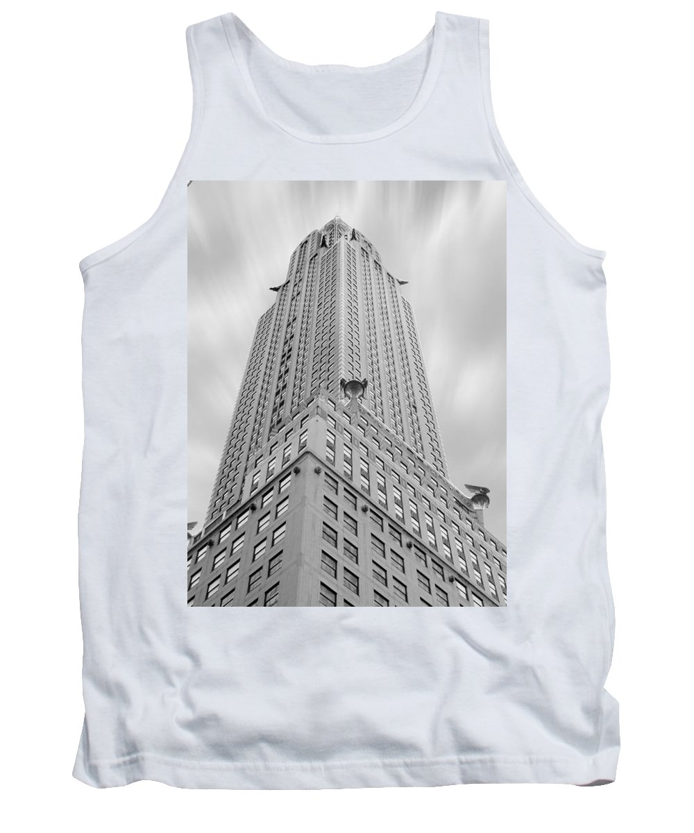 Landmarks Tank Top featuring the photograph The Chrysler Building by Mike McGlothlen