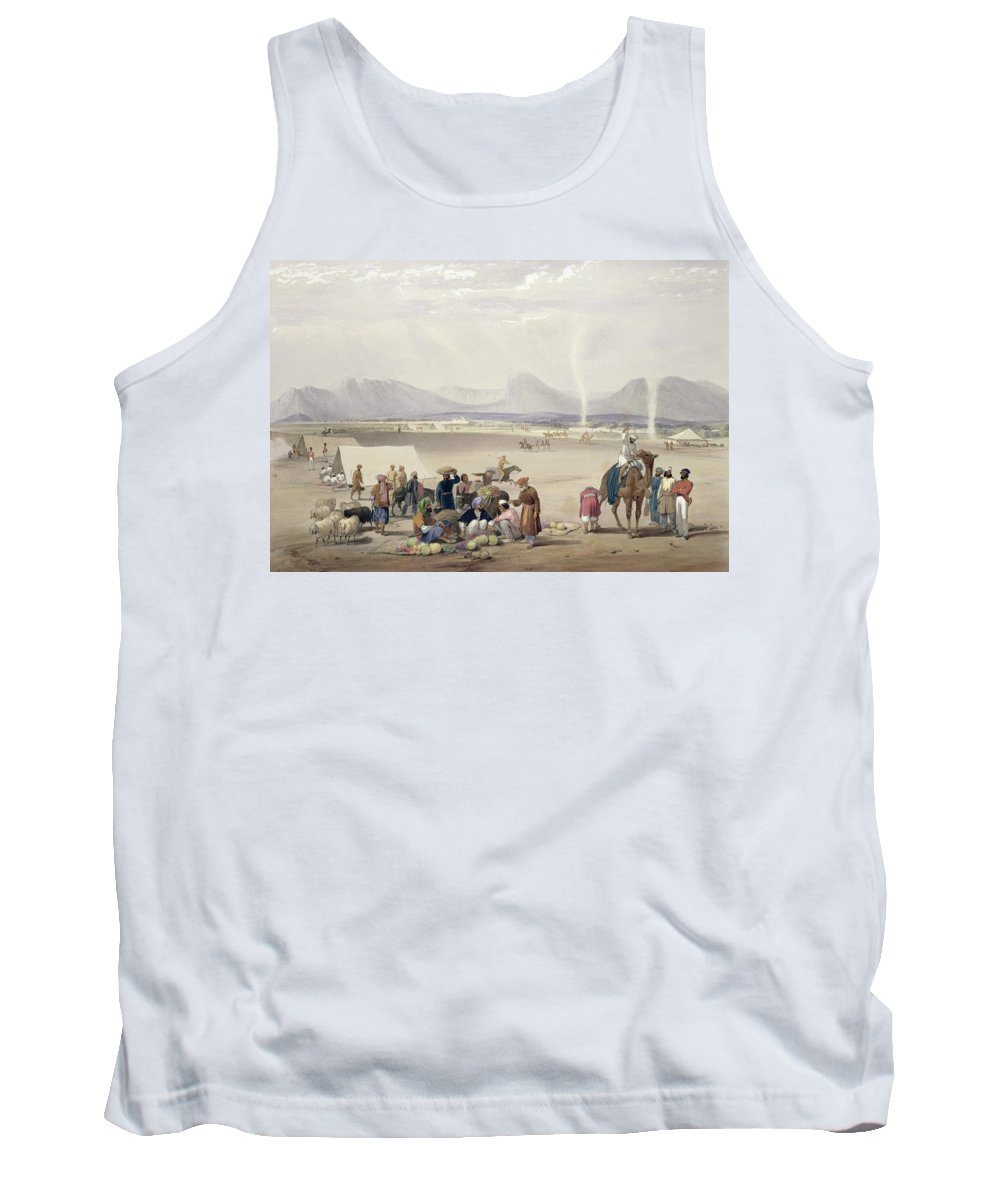 Kandahar Tank Top featuring the drawing The City Of Candahar, From Sketches by James Atkinson