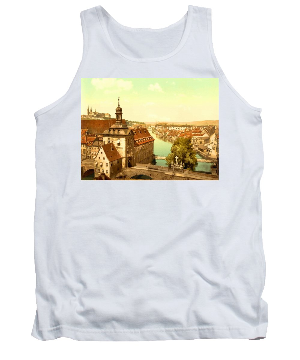 Retouched Tank Top featuring the digital art The Court House-bamberg-bavaria-germany - Between 1890 And 1900 by Don Kuing