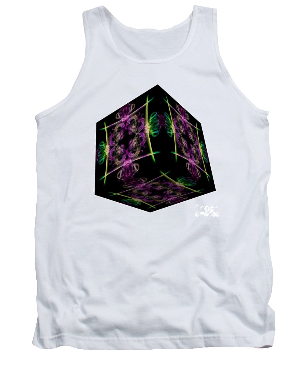 Smoking Trails Tank Top featuring the photograph The Cube 14 by Steve Purnell