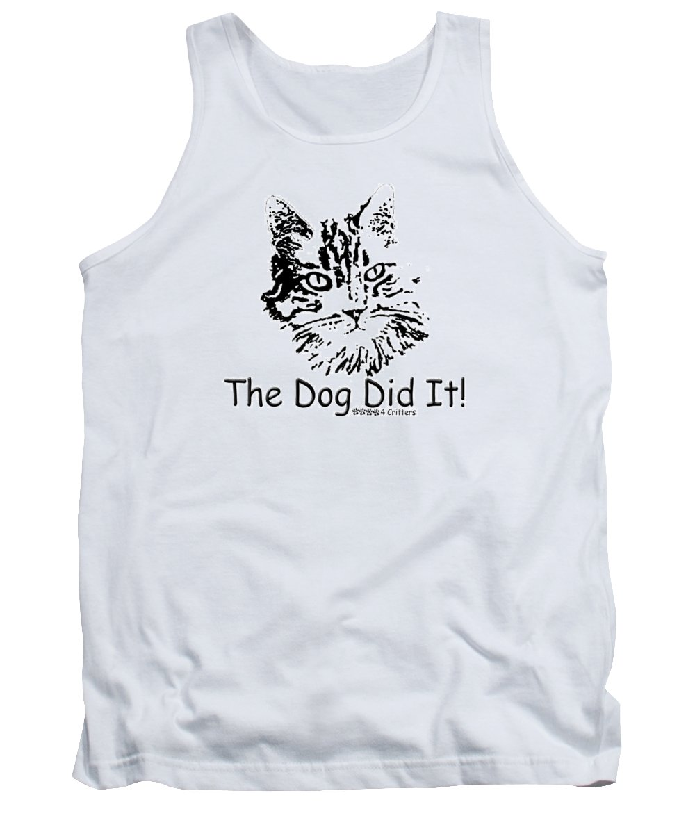 The Dog Did It Tank Top featuring the photograph The Dog Did It by Robyn Stacey