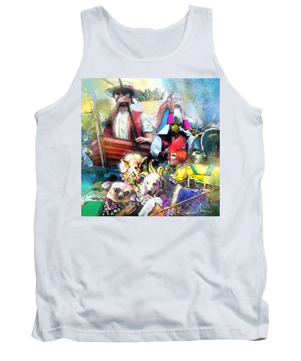 New Orleans Tank Top featuring the painting The Dogs Parade In New Orleans by Miki De Goodaboom