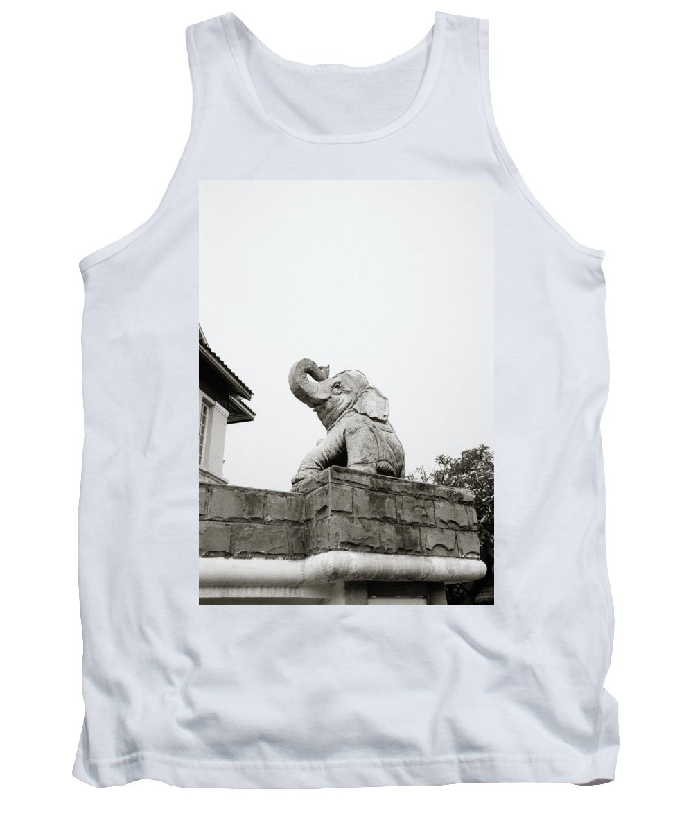 Asia Tank Top featuring the photograph The Elephant by Shaun Higson