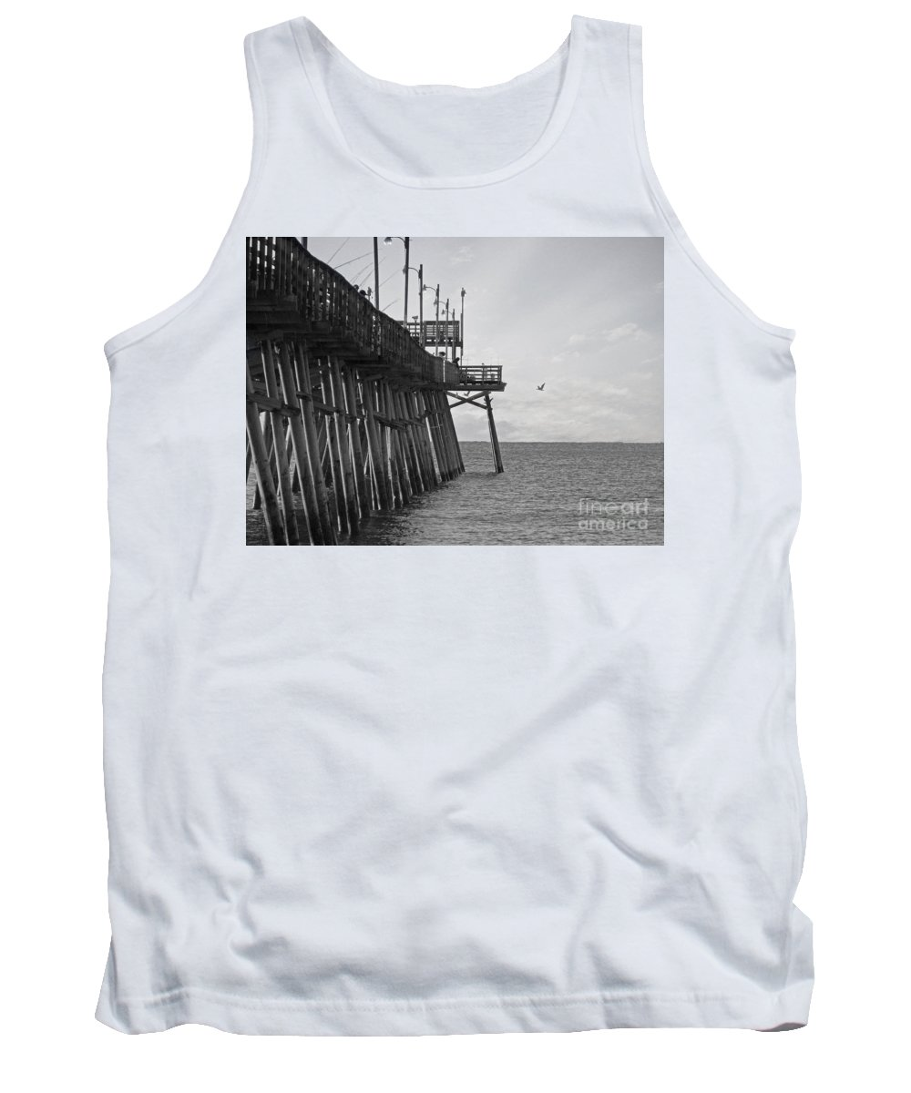 Pier Tank Top featuring the photograph The Fishing Pier by Kelley Freel-Ebner
