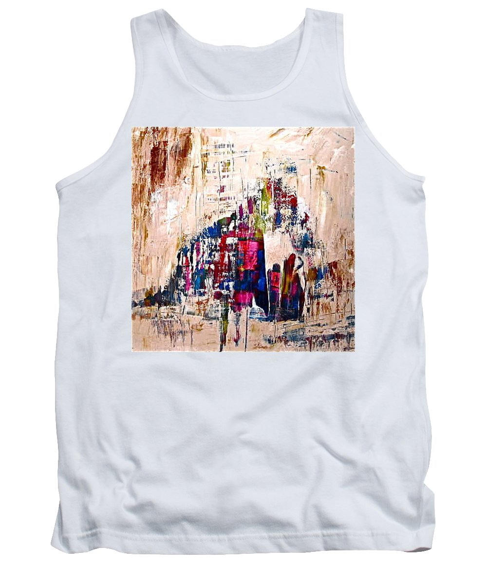 People Tank Top featuring the painting The Gathering by Janice Nabors Raiteri