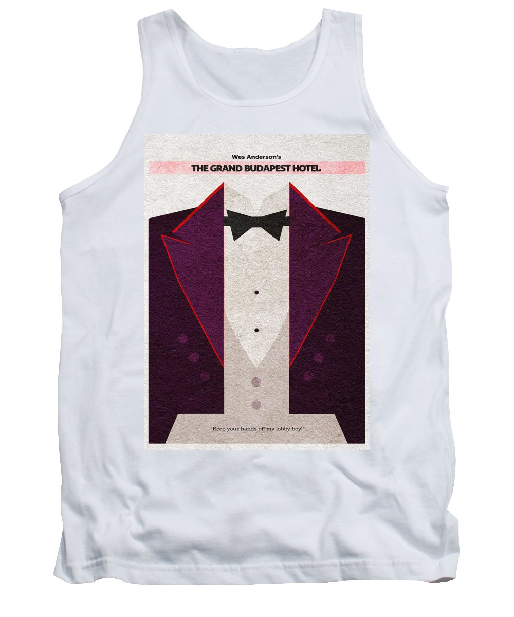 The Grand Budapest Hotel Tank Top featuring the digital art The Grand Budapest Hotel by Inspirowl Design
