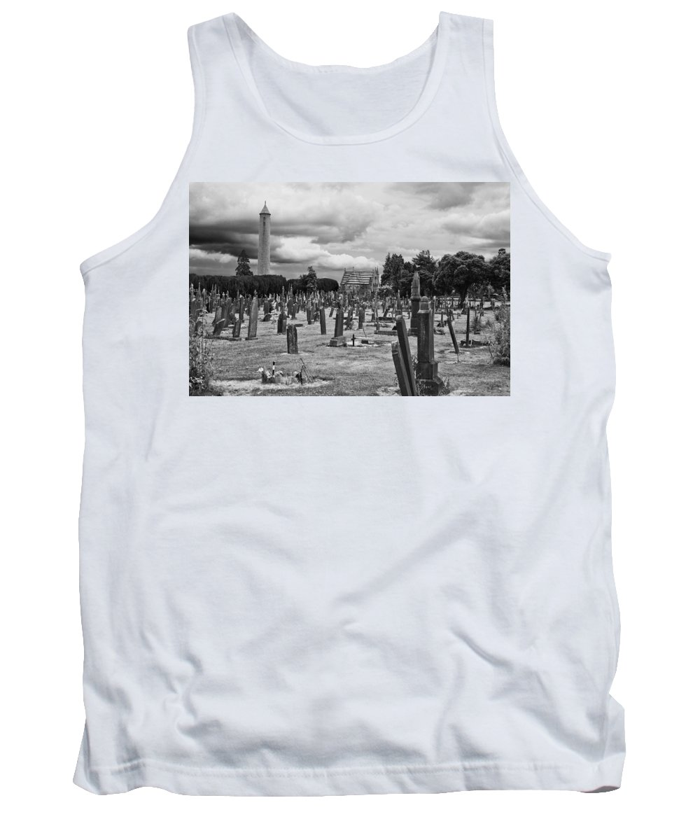 Cemetery Tank Top featuring the photograph The Graves by Alex Art and Photo