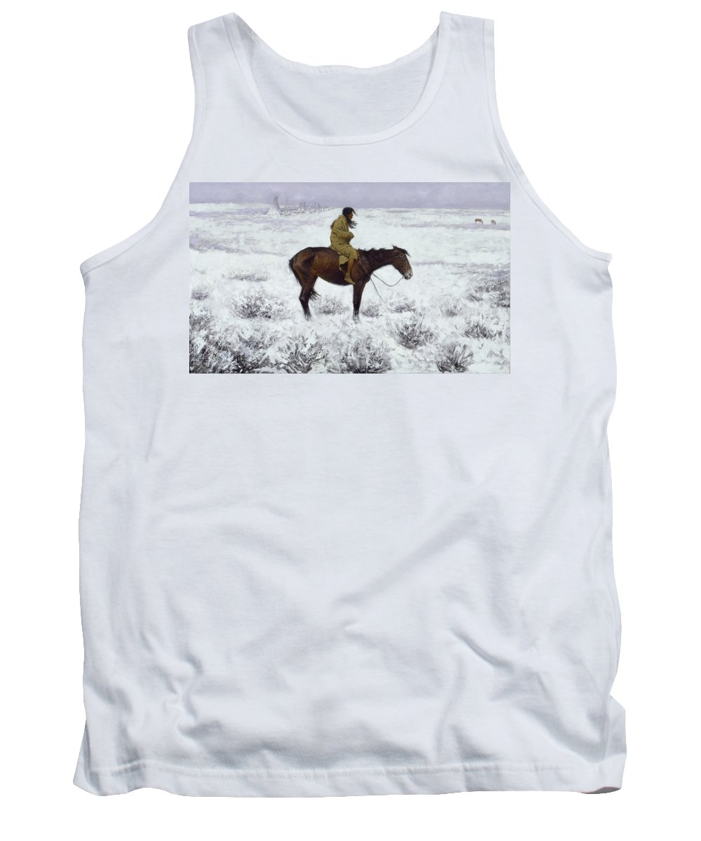 Frederic Remington Tank Top featuring the painting The Herd Boy by Frederic Remington