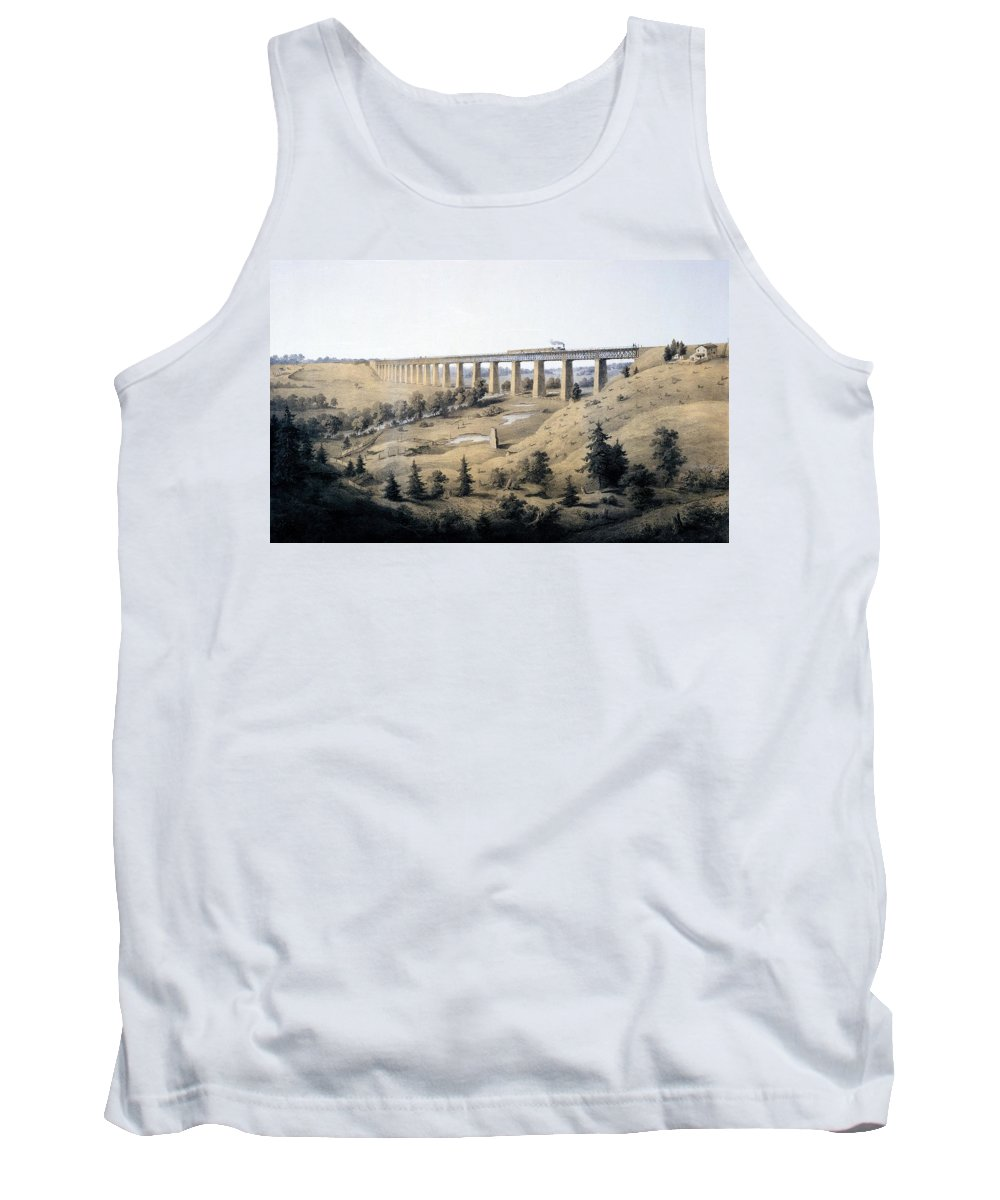 Virginia Tank Top featuring the drawing The High Bridge Near Farmville, Prince by Edward Beyer
