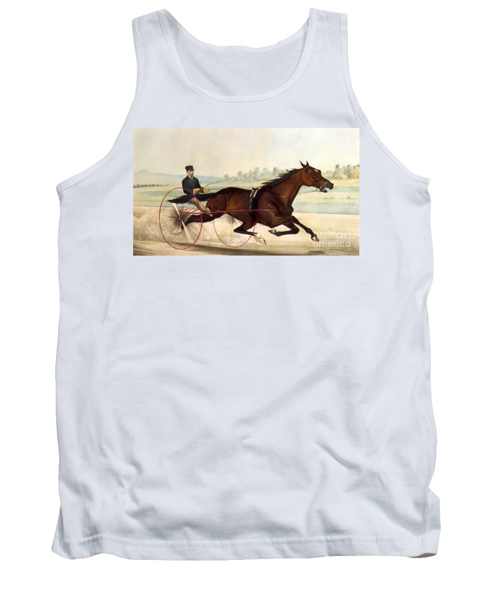 Currier And Ives Tank Top featuring the painting The King Of The Turf by Currier And Ives