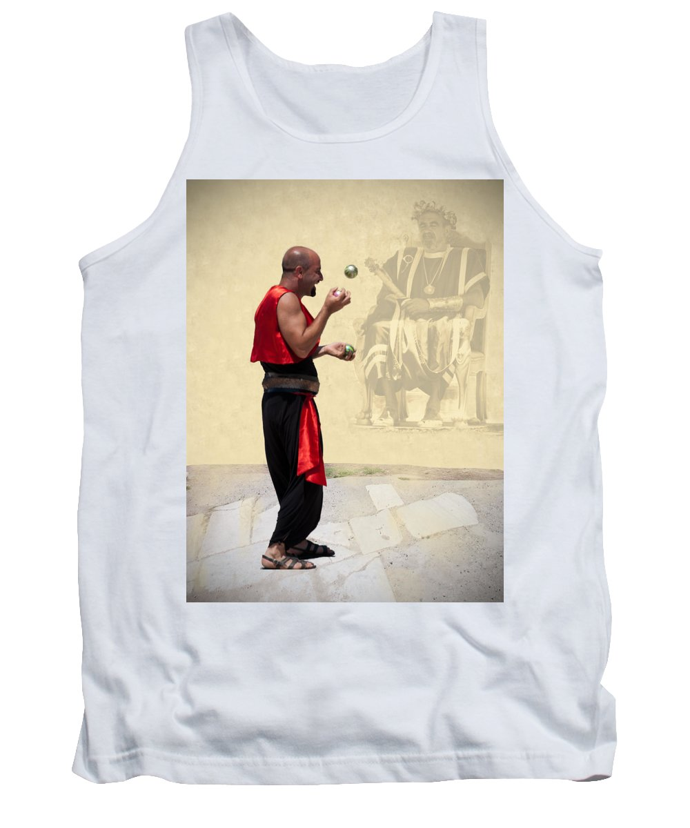 The King's Jester Tank Top featuring the digital art The King's Jester by Phyllis Taylor