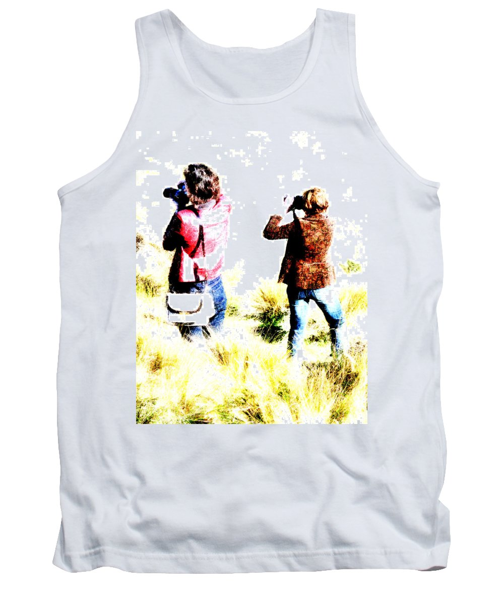 Long Tank Top featuring the photograph The Long Grass by Steve Taylor