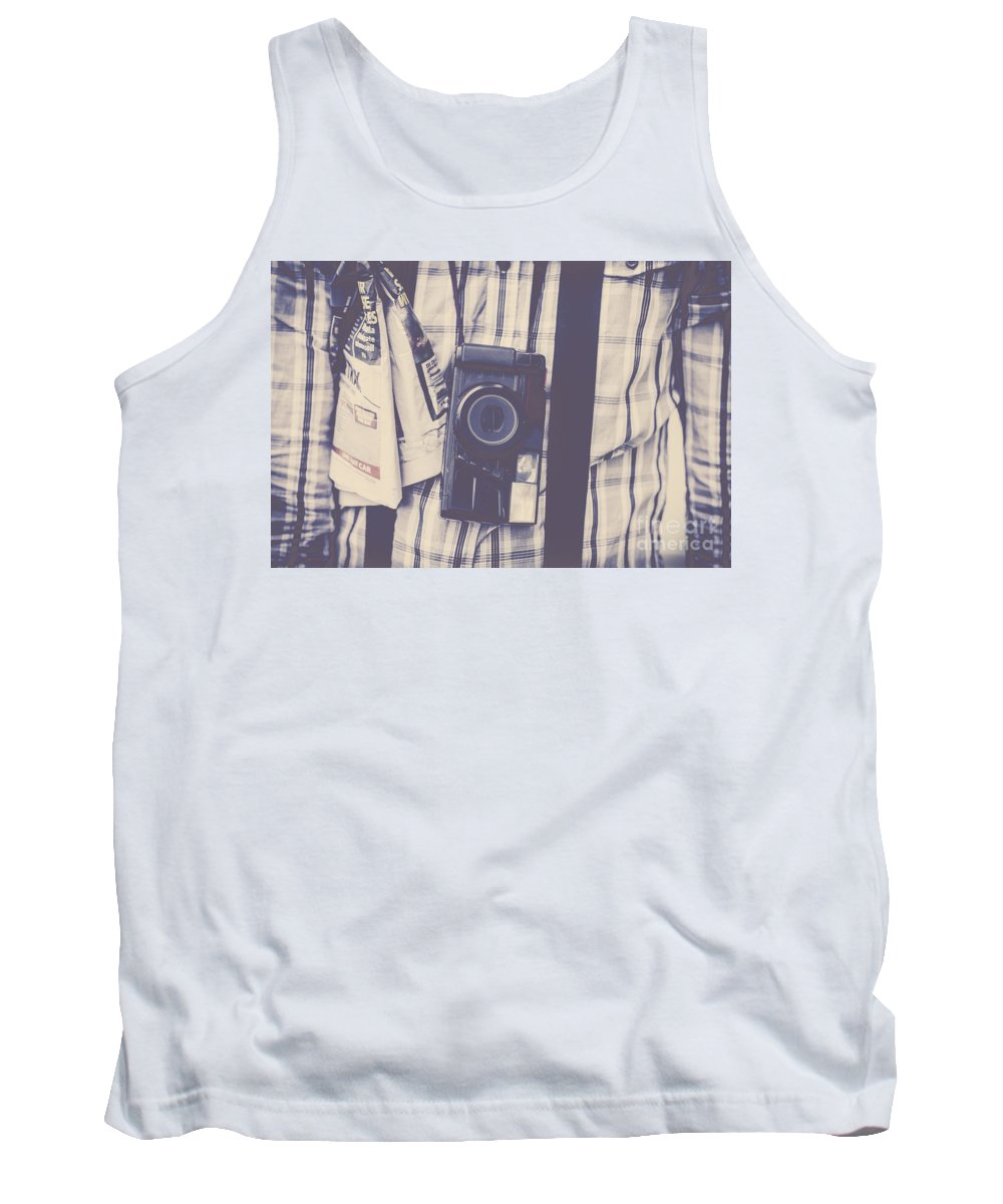 Article Tank Top featuring the photograph The Media by Jorgo Photography - Wall Art Gallery
