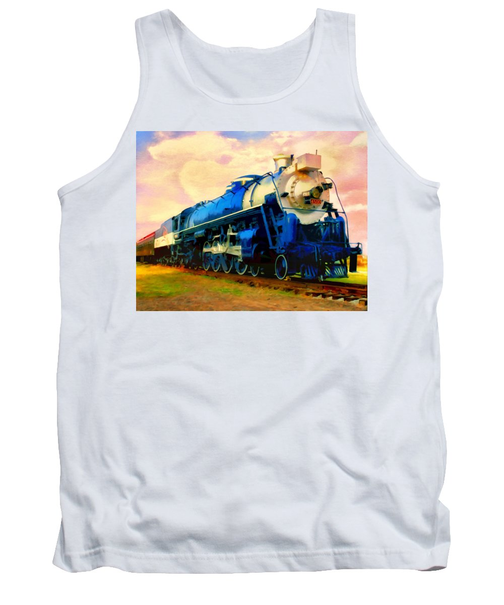 Passenger Train Tank Top featuring the painting The Meteor by Michael Pickett