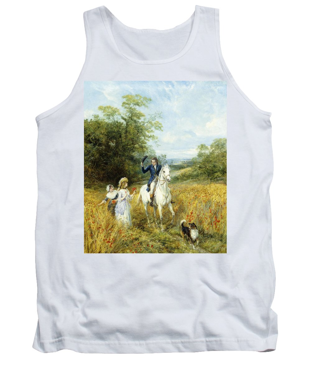 Horse Tank Top featuring the painting The Morning Ride by Heywood Hardy