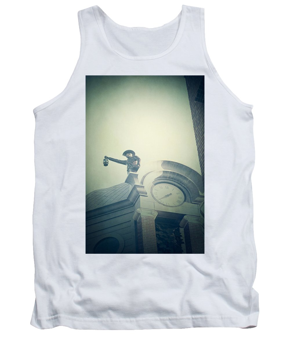 Building Tank Top featuring the photograph The Night Watchman by Trish Mistric