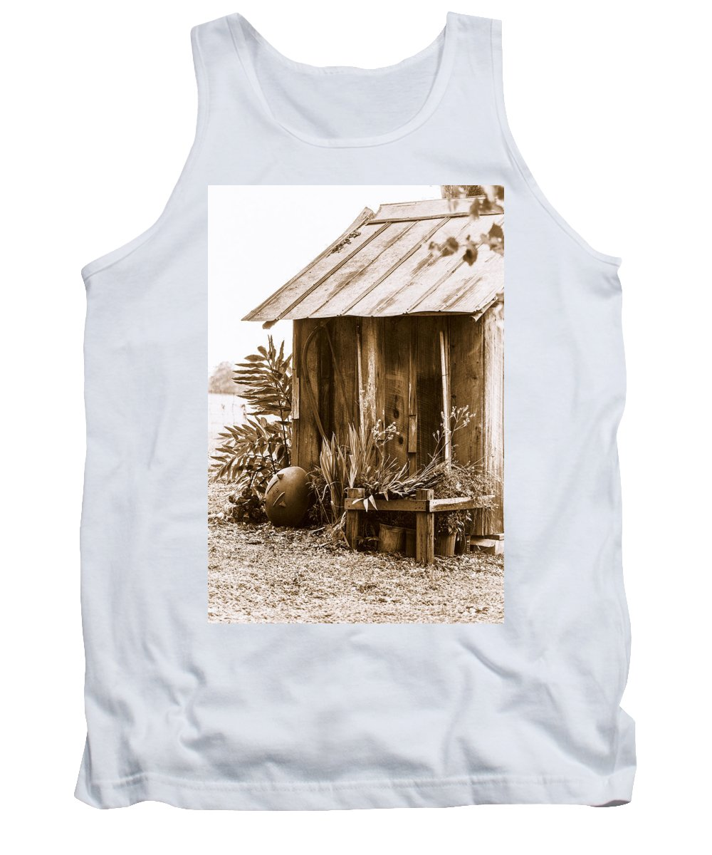 Outhouse Tank Top featuring the photograph The Outhouse by Carolyn Marshall