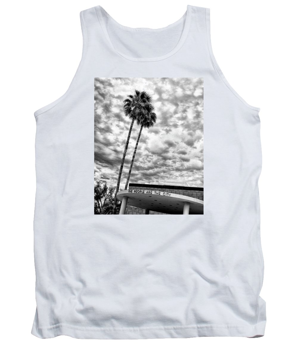 Featured Tank Top featuring the photograph The People Are The City Palm Springs City Hall by William Dey