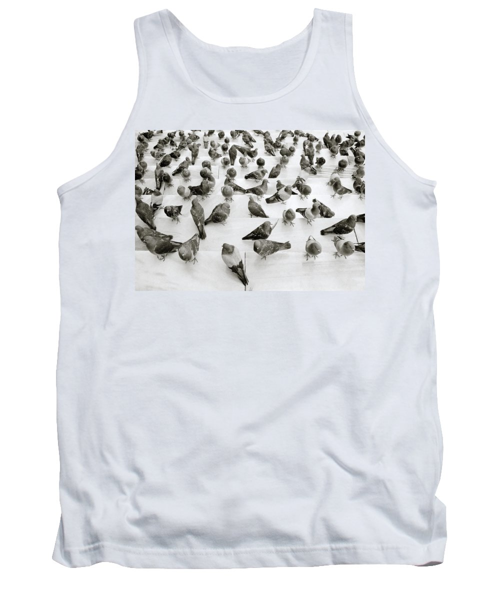 Abstract Tank Top featuring the photograph The Pigeon by Shaun Higson