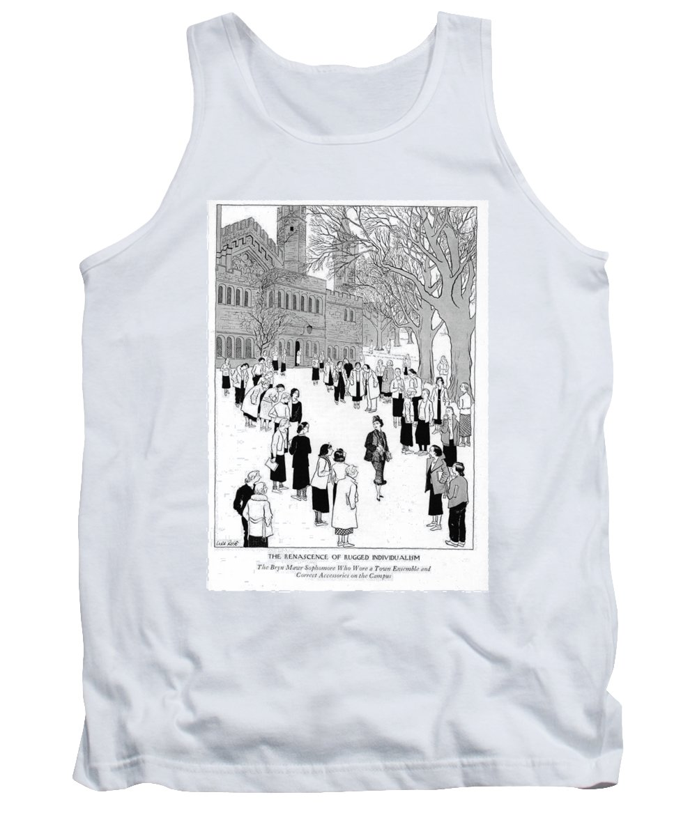 7128f4bbf68de7 The Renascence Of Rugged Individualism The Bryn Tank Top for Sale by Carl  Rose