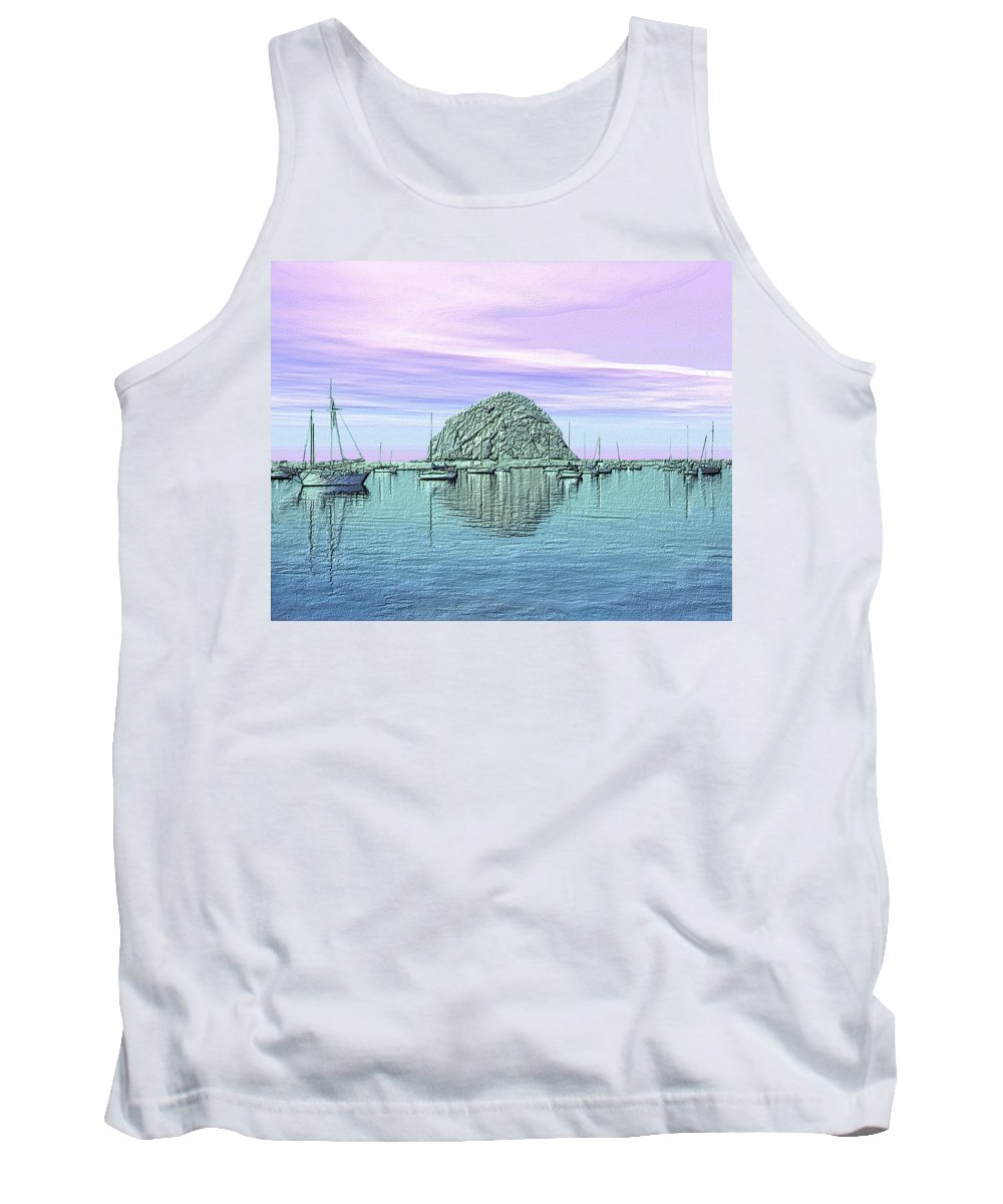 Seascape Tank Top featuring the photograph The Rock by Kurt Van Wagner