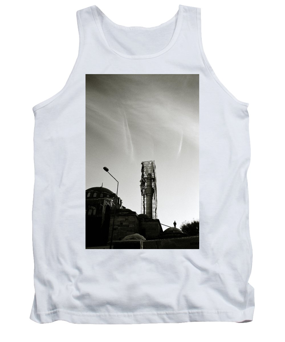 Silhouette Tank Top featuring the photograph The Structure by Shaun Higson