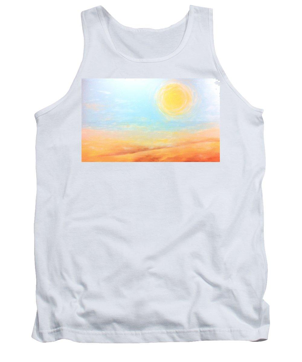 Sun Tank Top featuring the painting The Sun by Rachel Christine Nowicki
