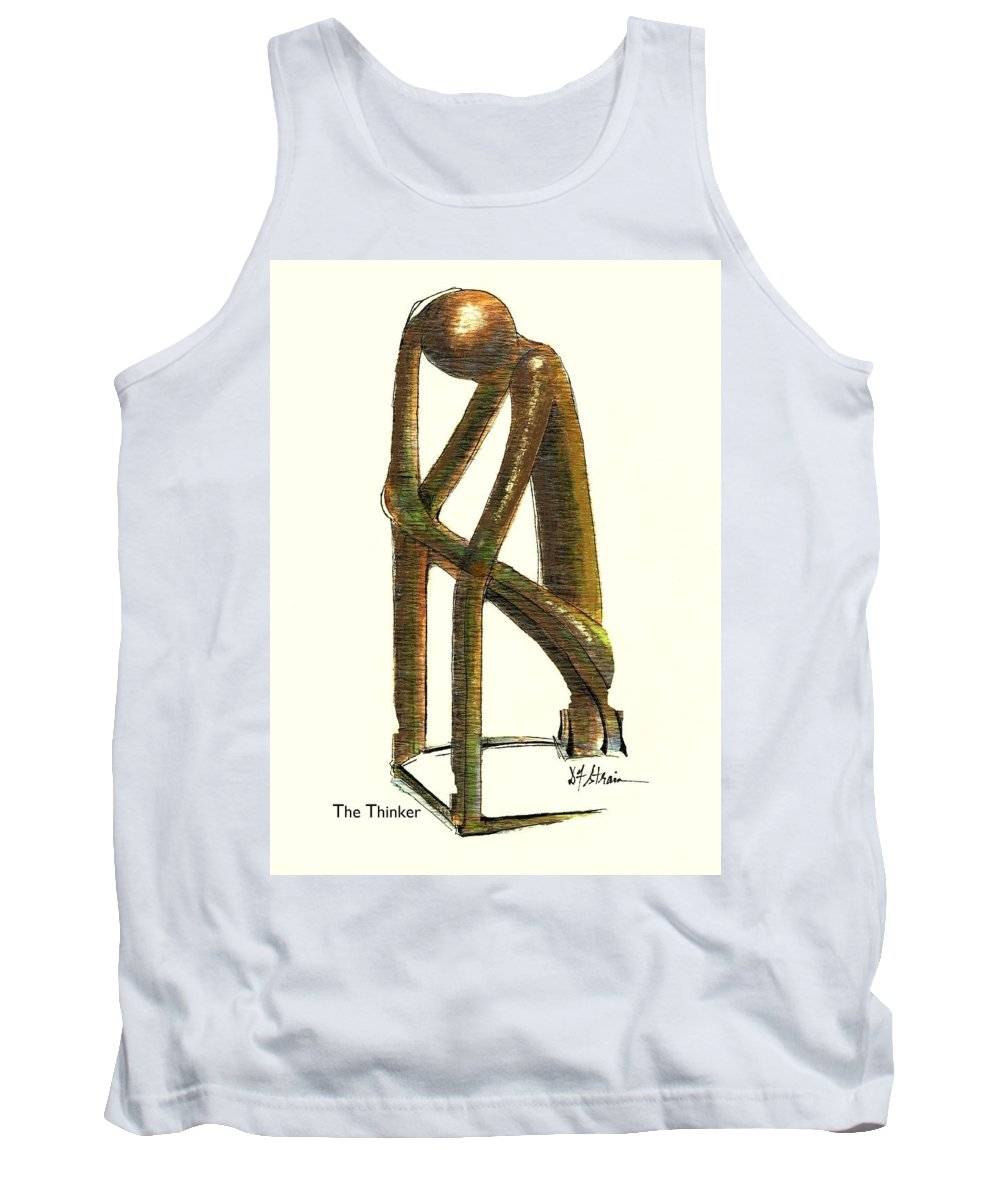 Fineartamerica.com Tank Top featuring the painting The Thinker Number 11 by Diane Strain