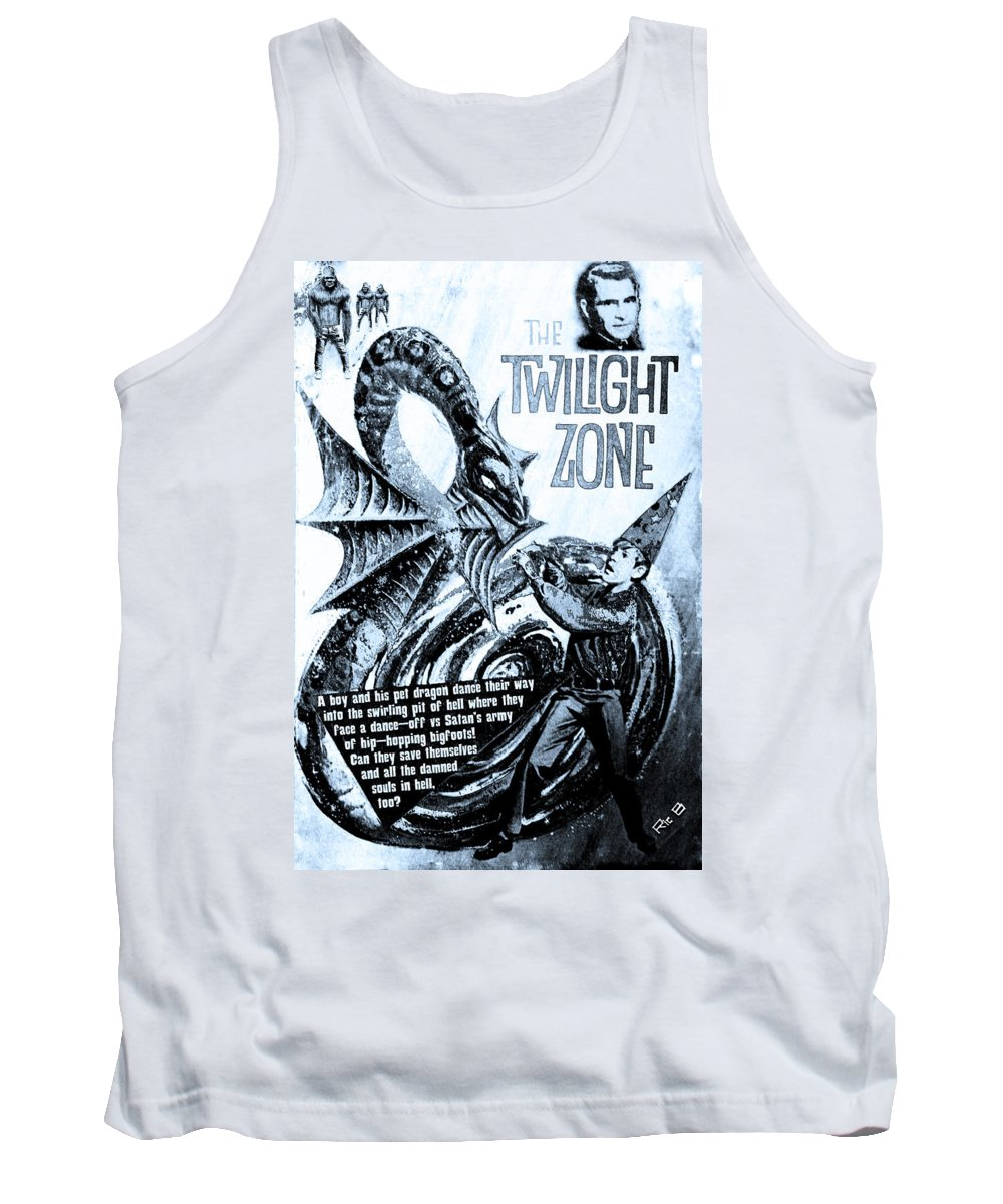 Black Hole Tank Top featuring the digital art The Twilight Zone by Ric Bascobert