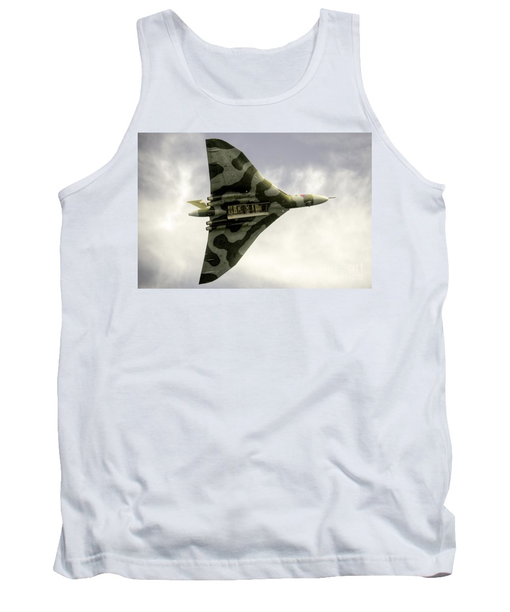 Vulcan Tank Top featuring the photograph The Vulcan Bomber by Rob Hawkins