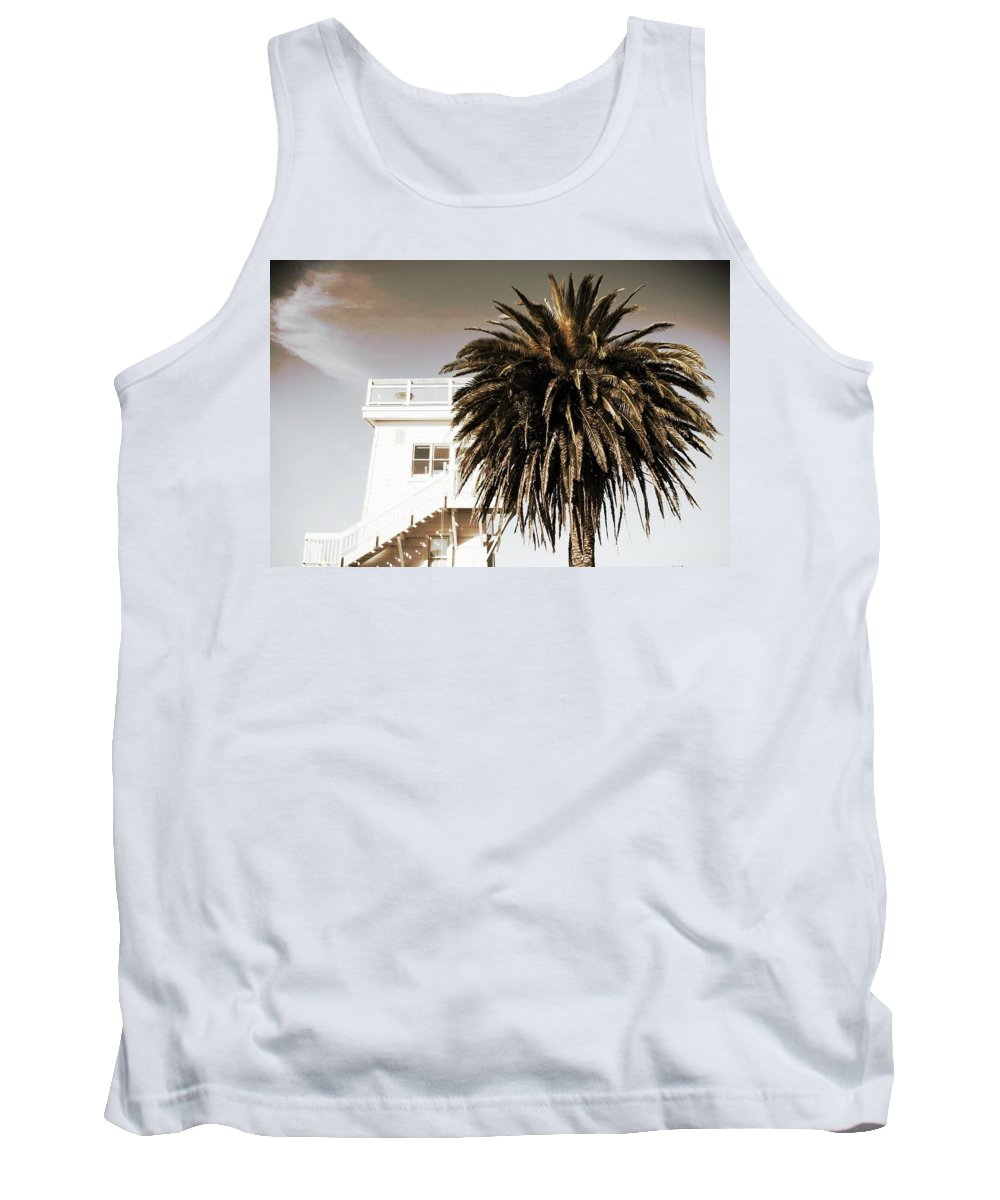 Water Tower Tank Top featuring the photograph The Weller Tower by Will Prendiville