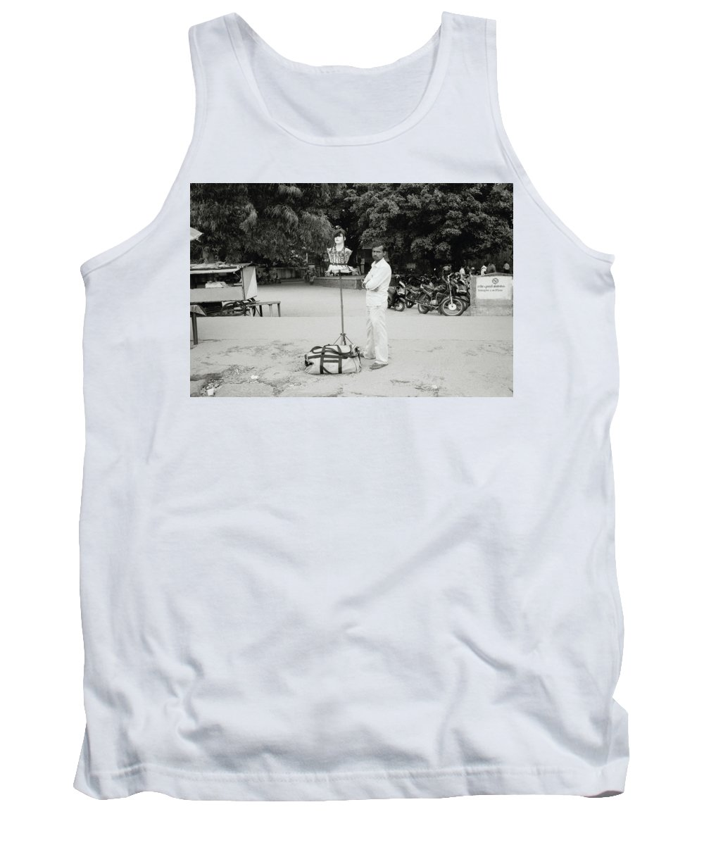 India Tank Top featuring the photograph The Wig Seller by Shaun Higson