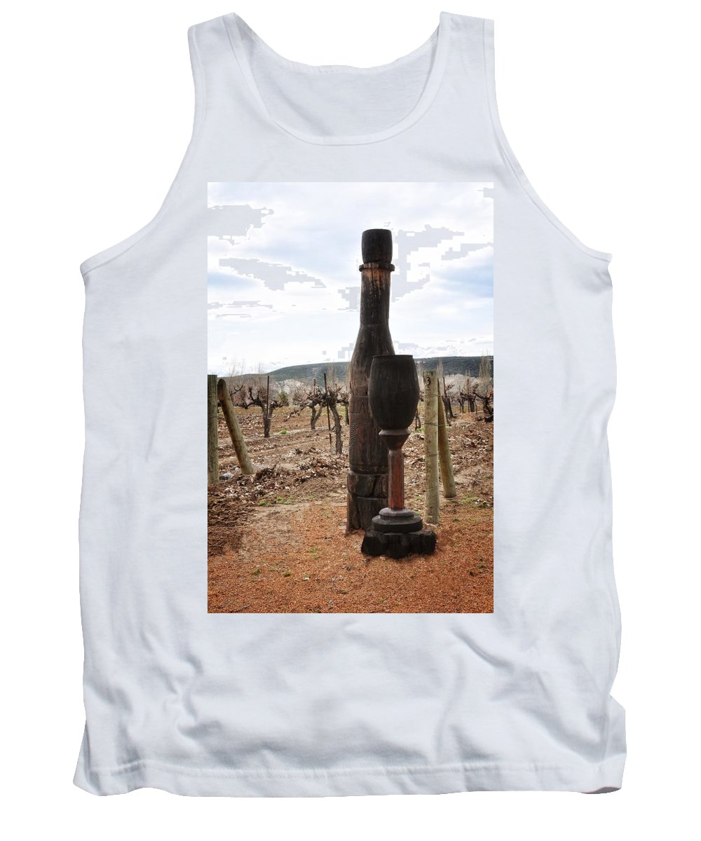 Glenns Ferry Tank Top featuring the photograph The Wooden Cork by Image Takers Photography LLC - Laura Morgan