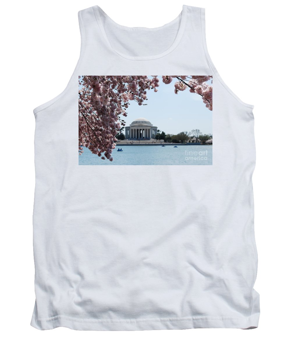 Memorial Tank Top featuring the photograph Thomas Jefferson Memorial In Dc by DejaVu Designs