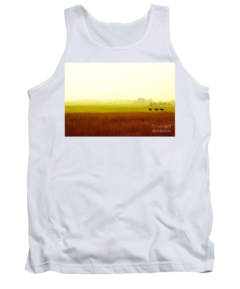 Landscape Tank Top featuring the photograph Three Is Not A Crowd by Aimelle