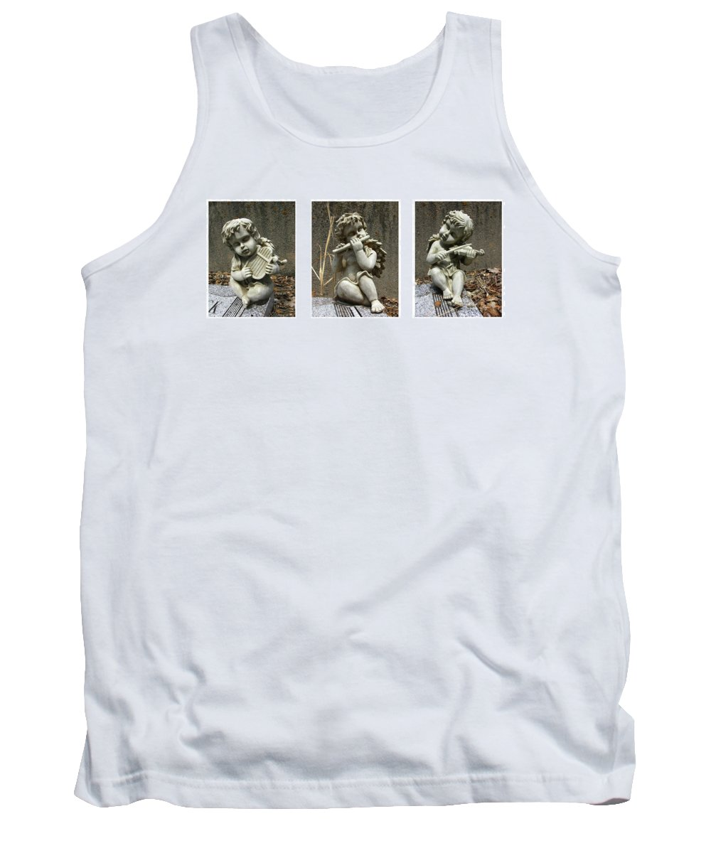 Three Tank Top featuring the photograph Three Musicians Triptych by Peter Piatt