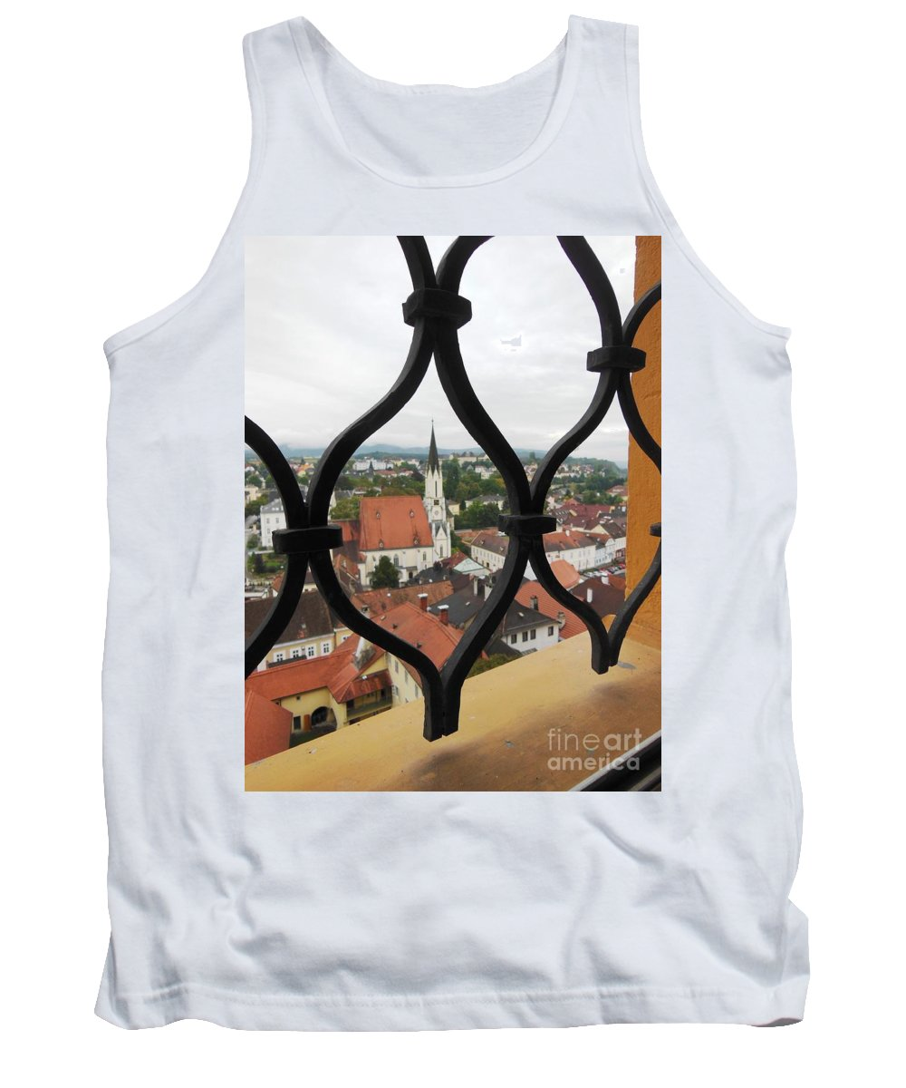 Window Tank Top featuring the photograph Through The Grates by Lisa Kilby