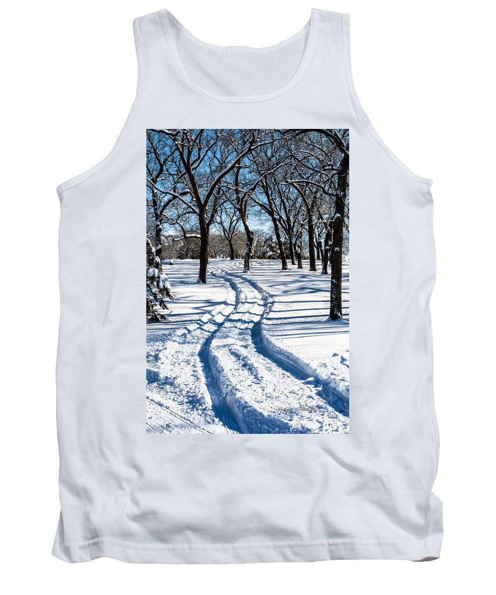 Winter Scene Tank Top featuring the photograph Through The Woods by Edward Peterson