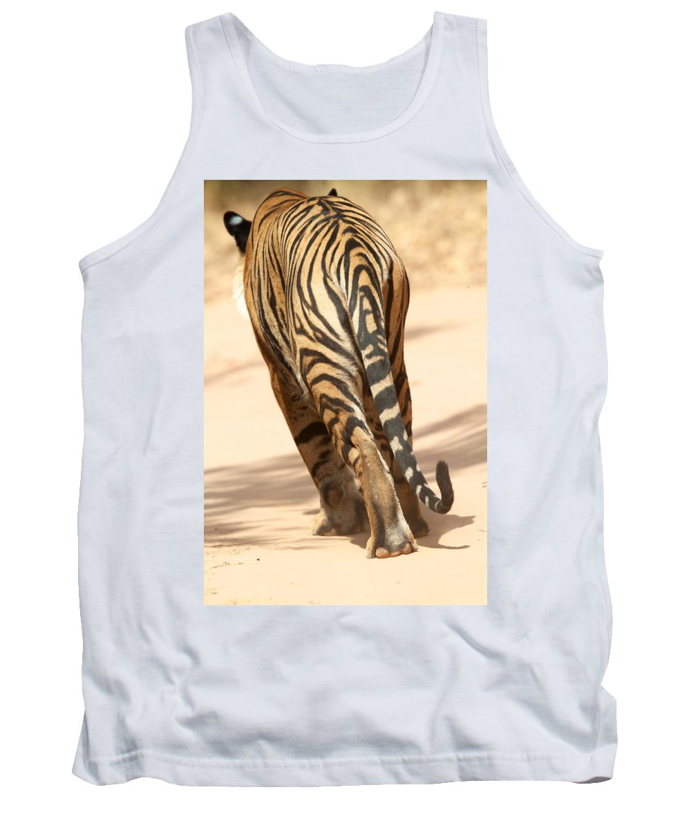 India Tank Top featuring the photograph Tiger Walking by David Beebe