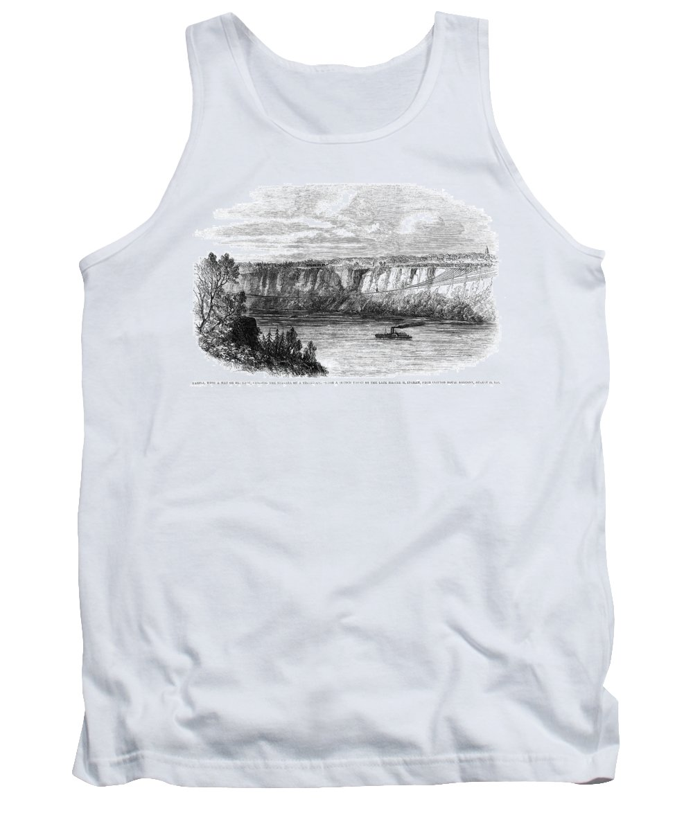 1860 Tank Top featuring the painting Tightrope Walker, 1860 by Granger