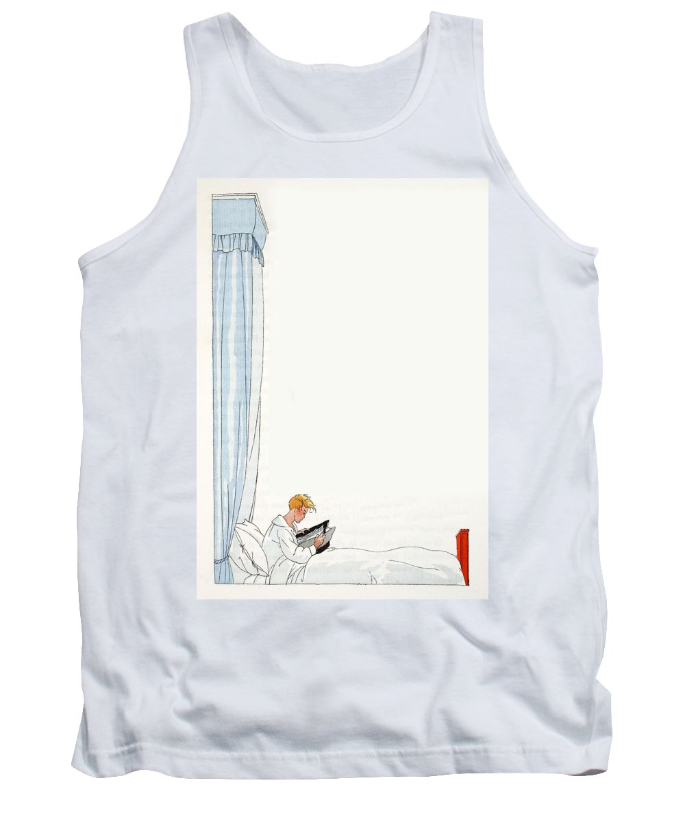 Tank Top featuring the painting Time For Bed ?? by French School