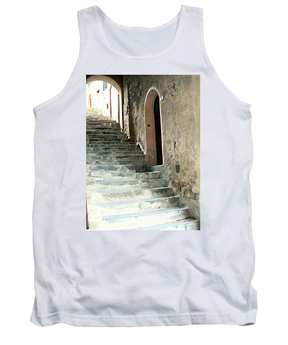 Time-worn Passage Tank Top featuring the photograph Time-worn Passage by Ellen Henneke