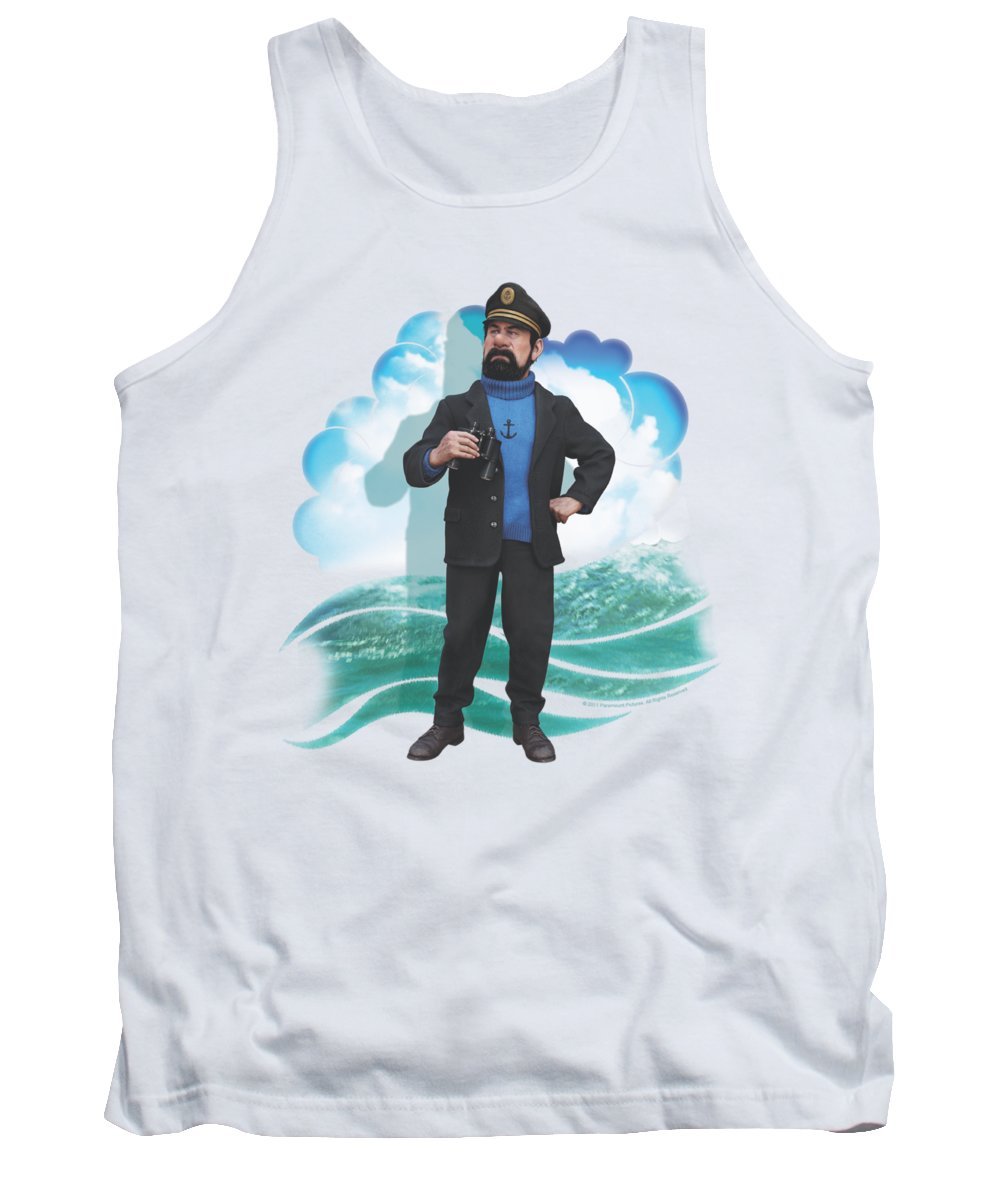 The Adventures Of Tintin Tank Top featuring the digital art Tintin - Haddock by Brand A