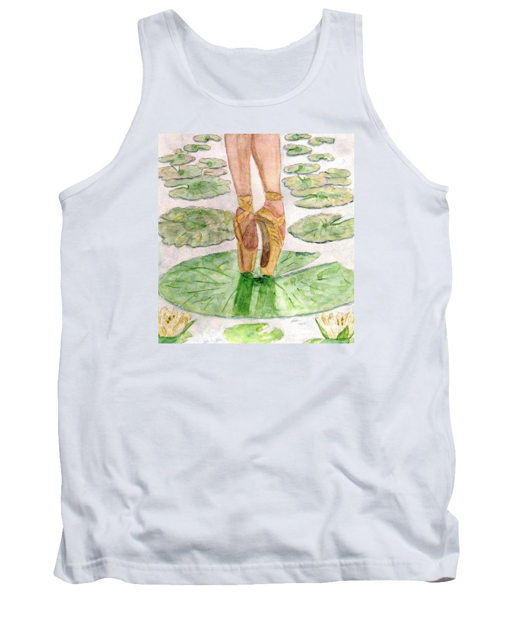 Ballet Slippers Tank Top featuring the painting To Dance by Angela Davies