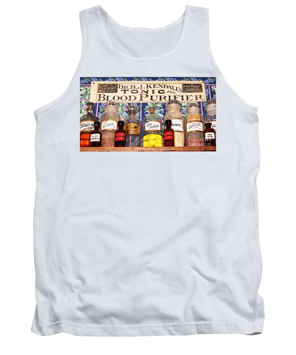 Bottle Tank Top featuring the photograph Tonic And Blood Purifier by Janice Rae Pariza