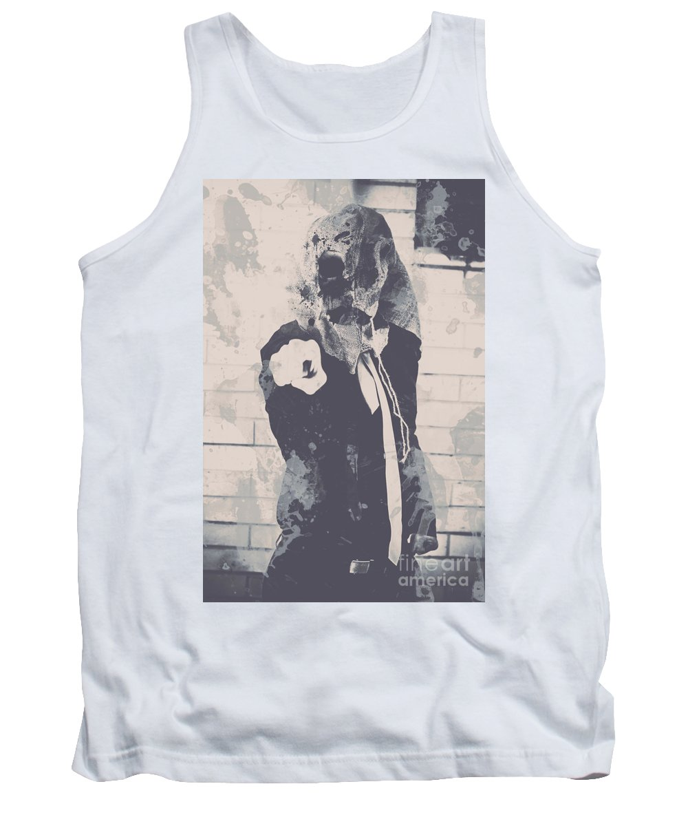Scary Tank Top featuring the photograph Totalitarian Tom Wants You by Jorgo Photography - Wall Art Gallery